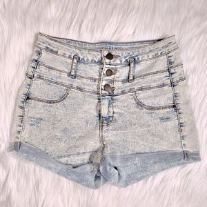 High waisted denim shorts size 6